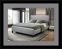 Grey platform bed with mattress all size Beltsville