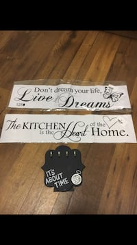 two white and black quote print wall decors Coral Springs, 33071