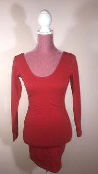 American apparel red fitted dress Toronto, M2J