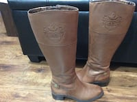 Brown leather knee high boots .Size 6  Burnaby, V5B
