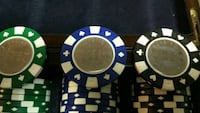 Poker chips with denominations 432 total  Vancouver
