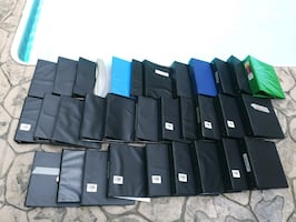 32 notebook binders used/ some unused-