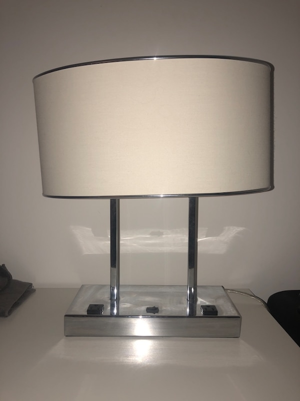2 LAMPS WITH OUTLETS (nighstand lamps)