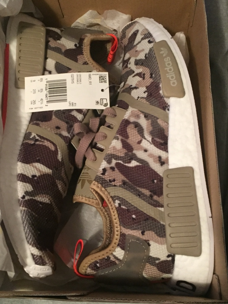 Adidas NMD R1 Clear BrownClear BrownSolar Red | Camo Pack