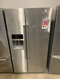 ❥New KitchenAid side by side stainless fridge - Seaford