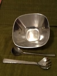 Stainless steel bowl, spoon, and fork Barrie, L4N 1T3