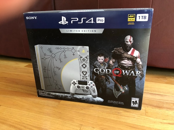 Sony Ps4 Pro 1tb Limited Edition Console God Of War Bundle