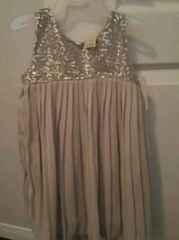 Toddler girl silver sequenced dress  Mississauga, L5M