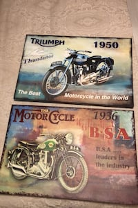 2 Canvas motorcycle pictures