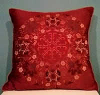 Satiny Burnt Orange with Raised Pattern Pillow