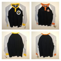 NEW adult 2XL Giants & Pirates long sleeve waffle knit shirts $35 EACH