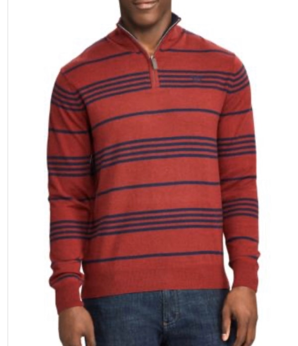 NWT Chaps Men's Striped Mockneck Sweater Large 5
