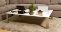 Beautiful Room and Board Coffee Table - White & Stainless New York, 11105