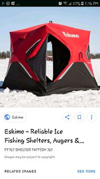 Ice fishing shelter  St. Catharines, L2R 2J5