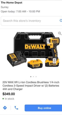 dewalt MAX XR Li-Ion Cordless Brushless 1/4-inch Cordless 3-Speed Surrey, V3W 1X9