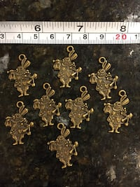 Easter bunny 8 pcs lot DIY charms for jewelry making art crafts Lutherville Timonium, 21093