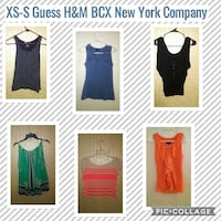 women's six assorted clothes pic collage
