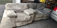 gray suede 3-seat sofa Stamford, 06907