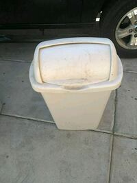 white and brown plastic container