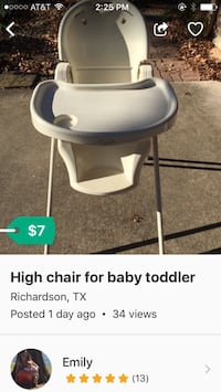 High chair for Baby toddler child