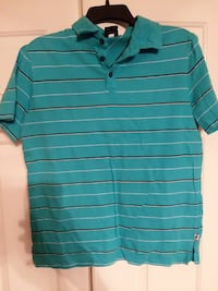 green and black stripe polo shirt Cary, 27519