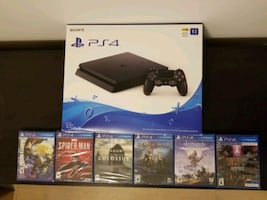PS4 + 6 games and controller