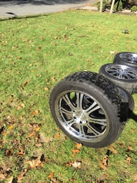 "(4) 20"" alloy wheels. 6 lug. Fits GM trucks, nissan and Toyota etc... Melville"