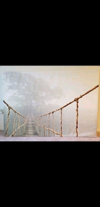 "Rope Bridge Picture and Frame (78 3/4 "" x 55"") North Bethesda, 20852"