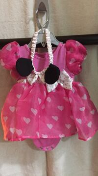 Toddler's pink and white minnie mouse dress Burnaby, V3N 4Z3
