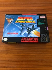 SUPER NINTENDO SUPER STRIKE EAGLE Authentic Boxed & Complete