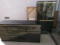 black and brown wooden TV stand Los Angeles, 91326