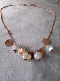 gold and white opal necklace