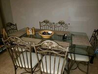 rectangular glass top table with six chairs dining Centereach, 11720