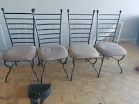 4 matching chairs - need a good clean.