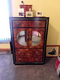 brown wooden framed glass cabinet Orland Park, 60467