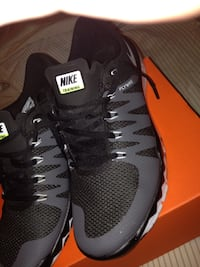 pair of black Nike Air Max shoes Lawrence, 01843