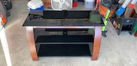Black and brown wooden tv stand Ballston Lake, 12019