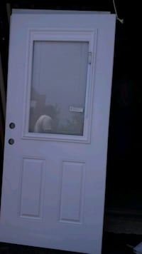 White entry door with blinds Frederick