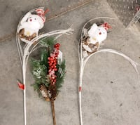 2 Decoravite Snowman and Pine & Holly Floral Stems  Alexandria, 22306