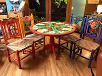 Mexican Table w 4 Chairs. Woven bottoms University Place, 98467