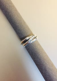 Silver plated & 925 stamped 3-link ring 3712 km