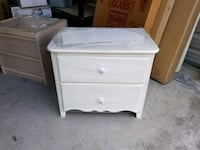 white wooden 2-drawer nightstand Mississauga, L4Y 2V9