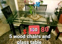 5 Chair and dining table Richmond Hill, L4C 0B9