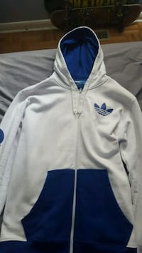 Black white and blue Adidas Hoodie Sz L Mississauga, L5B 0H2