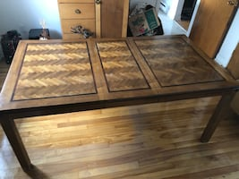Wooden Stained Dining Room Table