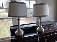two black wooden base table lamps Linganore, 21774