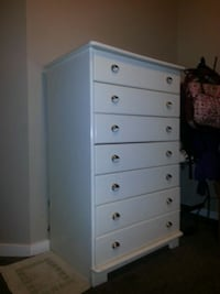Excellent white  tall boy dresser Red Deer, T4N 1C4