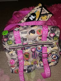 gray pink and black backpack Boone, 50036
