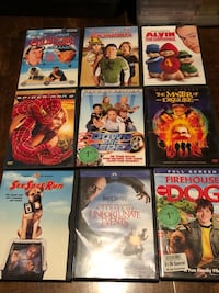nine assorted DVD movie cases Eagle Mountain, 84005