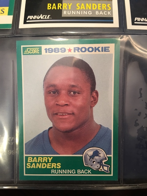 Barry Sanders Rookie Card 1989 Score
